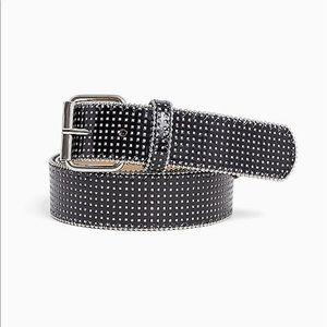 Nwt Torrid size 1 Black Silver Glitter Belt